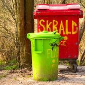 Plastic rubbish bins — Stock Photo