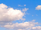 White clouds and blue sky -copy space — Stock Photo