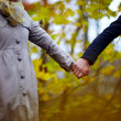 Love - Couple in holding hands together — Stock Photo