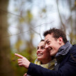 Stock fotografie: Love - Happy young couple smiling at you