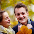 Love - Happy young couple smiling at you — Stok fotoğraf
