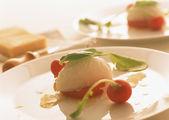 Tabella di cibo vino dell'ospitalità — Foto Stock