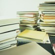 Paper notes and books — Stock Photo