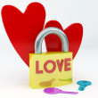 Lovers padlock — Stock Photo