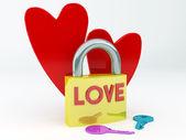 Lovers padlock — Stock Photo
