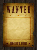 An illustration of a wanted retro poster — Fotografia Stock