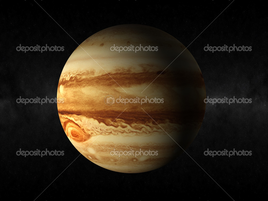 Rendering of the planet jupiter  Stock Photo #1453747