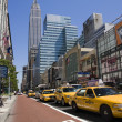 Many yellow cabs in Manhattan street in new york — Stock Photo #1462941