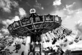 Kid on a luna park — Stockfoto