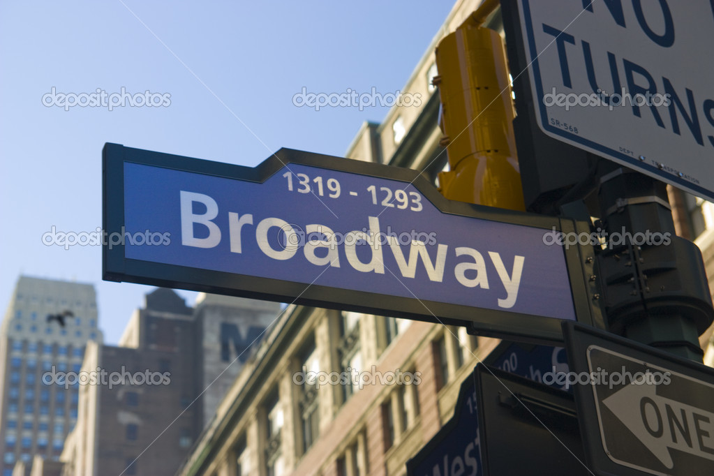 A photo of a Broadway street signal in Manhattan  Stock Photo #1463303
