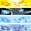 Stock Vector: Four abstract banners
