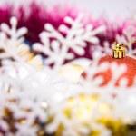 Colorful christmas decoration set — Stock Photo