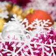 Colorful christmas decoration set — Stock Photo