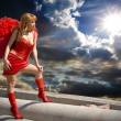 Redhead angel — Stock Photo