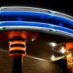 brána v noční bar — Stock fotografie