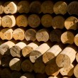 Stacked wood beams — Stock Photo