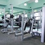 Gym equipment room — Stock Photo