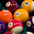 Billiard ball on a table - Stock Photo