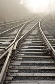 Rail road. Wanishing point. — Stock Photo