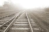 Rail road. Vanishing point. — Stock Photo