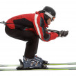 Skier man in aerodynamic pose — Stock Photo #1461592
