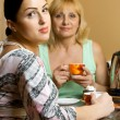 Mother and daughter drinking tea — Stock Photo #1461705