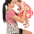 A mother hold his infant child — Stock Photo #1461833