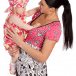 A mother hold his infant child — Stock Photo #1461856