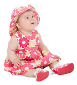 Cute baby looking up — Stock Photo