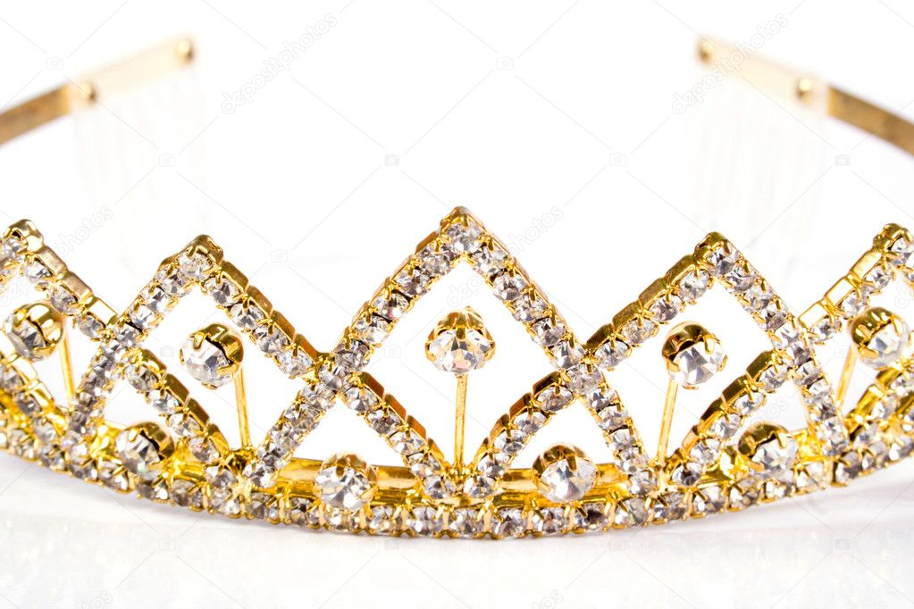 Queen crown. Isolate on white background — Stock Photo #1549439