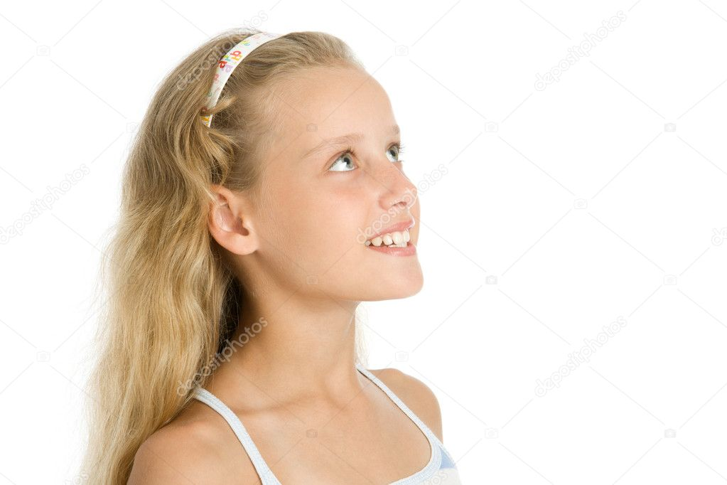 Close Up Portrait Of Pretty Young Girl Stock Photo
