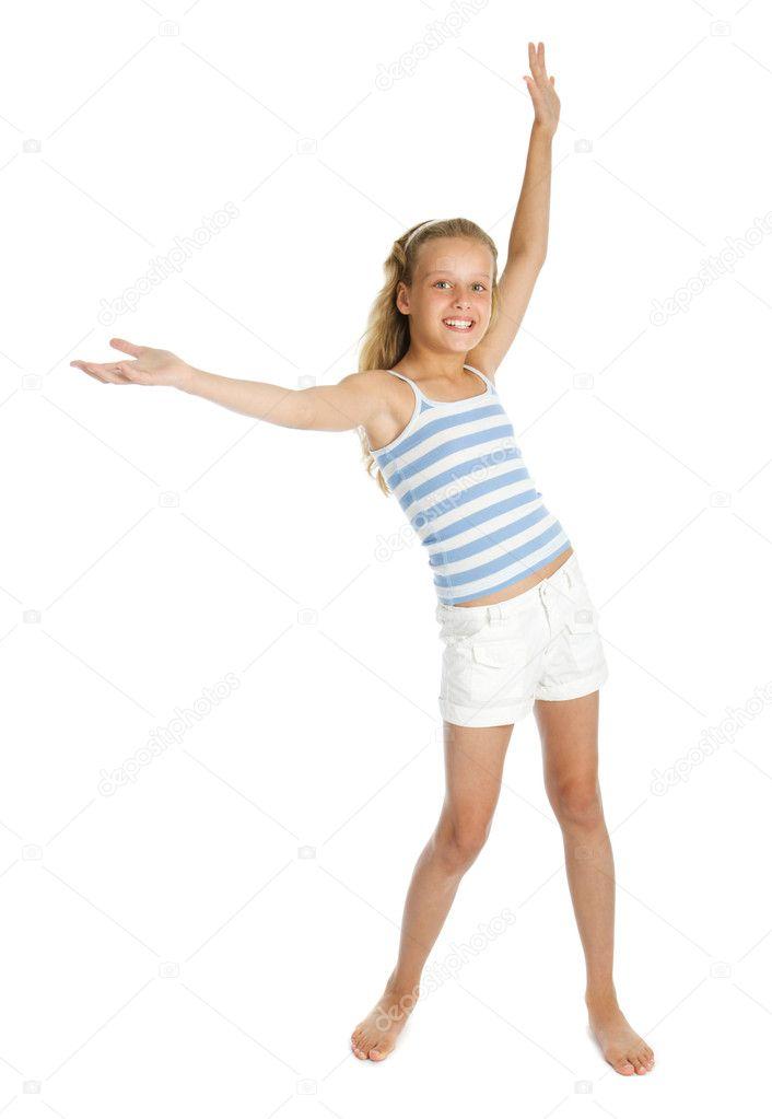 Söt tonåring flicka rum