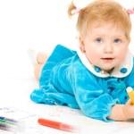 Pretty caucasian baby paint — Stock Photo #1957699