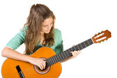 Young girl with guitar. — Stock Photo