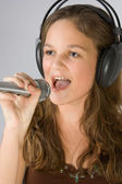 Young singer — Stockfoto