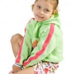 Little fun girl sitting — Stock Photo
