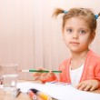 Pretty caucasian child paint — Stock Photo #2389118