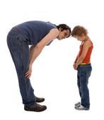 Father teaches his daughter — Stock Photo