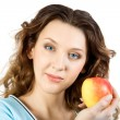 Young women with apple — Stock Photo #2555155