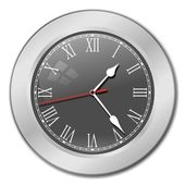 Grey Clock — Stock Photo