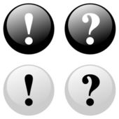 Exclamation and Question Buttons — Cтоковый вектор