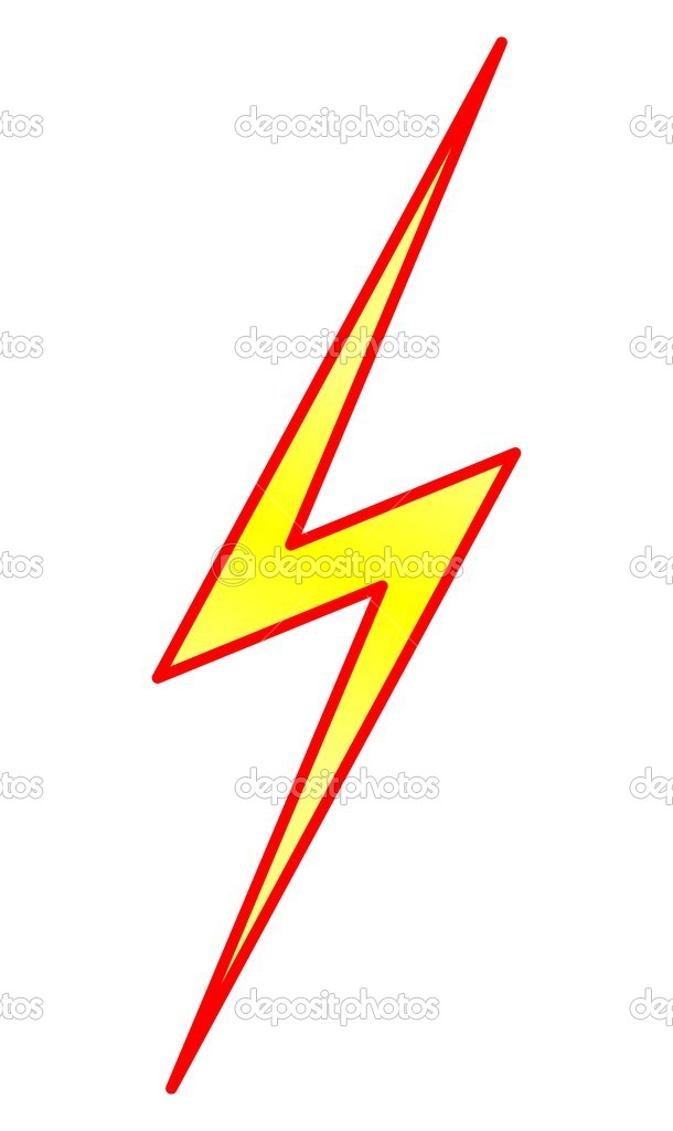 Lightning Symbol Stock Vector Okeen 1493832
