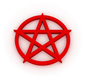 Red Pentagram 3D — Stock Photo