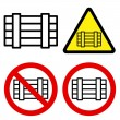 Stock Vector: Luggage Signs