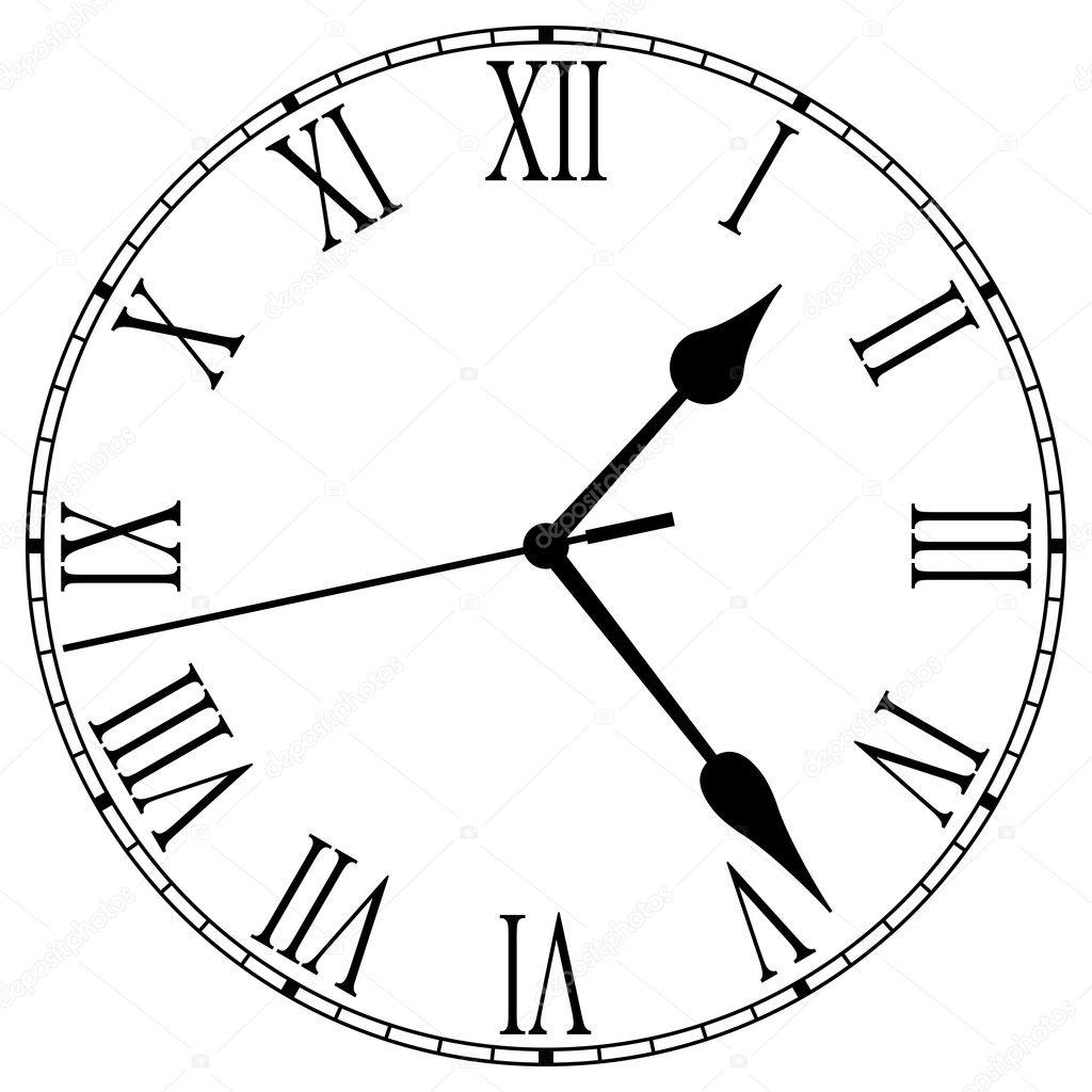 Clock Hands Drawing Numerals And Clock Hands