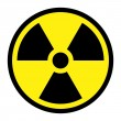 Stock Vector: Radiation Round Sign