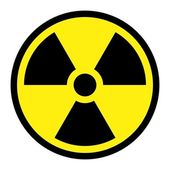 Radiation Round Sign — Stock Vector
