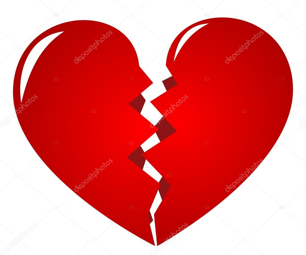 Broken heart - symbol of lovelorn — Stock Vector #1810194