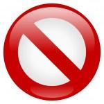 ícone de proibição — Vetorial Stock
