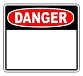 Danger Blank Sign — Stock Vector